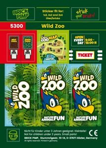 Wild Zoo  Sticker  Fit for lego Tiles, Bricks, Plates/5300
