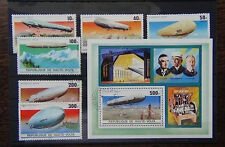 Upper Volta 1976 Zeppelin set and Miniature sheet VFU