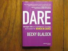 "BECKY  BLALOCK   Signed  Book (""DARE""-2014  First  Edition  Hardback)"