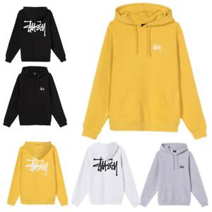 Mens Hoodie Pullover Stussy Sweatshirt Fashion Hoody Hooded Casual Activewear