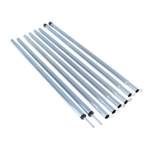 2Pcs 4 Section Tarp Shelter Canopy Tent Awning Support Rod Porch Iron Poles