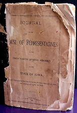 Journal of  House of Representatives 26th General Assembly of State of Iowa 1896
