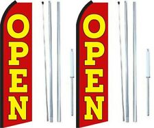 Open Swooper Flag With Complete Hybrid Pole Set Pack Of 2