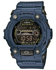 CASIO G-Shock Blue Search & Rescue Watch GW-7900NV-2ER Solar Tide Moon Data