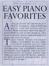 The Library of Easy Piano Favorites Sheet Music Book NEW 014019034
