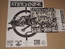 STRYCHNINE-Dead Conseil and Oakland Dogs LP avec poster