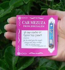 Car Mezuzah Mezuza Case w/ Torah Decalogue Protection Charm, Jewish Judaica Gift