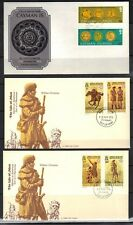 BRITISH COMMONWEALTH 1970-80's COLL. OF 17 FDCs BIRDS, MILITARY, RELIGION, DOGS,