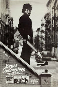 The BOSS: Bruce Springsteen * Born To Run * Columbia Records Poster 1975  12x18