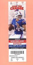 New England Patriots at Buffalo Bills 2012 ticket stub GEM MINT Tom Brady
