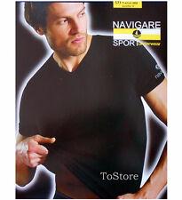 NAVIGARE intimo 3 t- shirt 571 uomo collo V manica corta maglietta cotone