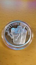 HOT Nude woman in shot glass- One Troy Ounce .999 Fine Silver beauty coin / bar