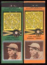 1934 Diamond Matchbooks LEROY MAHAFFEY (Philadelphia Athletics) ORNGE