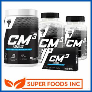 TREC NUTRITION - CM3 - TRI CREATINE MALATE 30/90/180/360caps - STRENGTH & SIZE