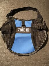 Service Dog Vest in Blue, Size Medium - Made In USA - With Identification Patch