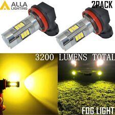 Alla Lighting 3200lm 3000K 27-LED H8 Fog Light Driving Bulbs Lamp Golden Yellow