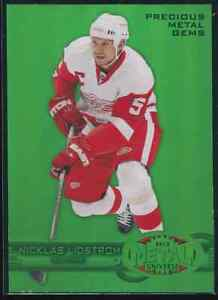 Nicklas Lidstrom 2012-13 Fleer Retro Precious Metal Gems Green 3/10