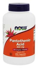 NOW Foods Pantothenic Acid 500 mg, 250 Capsules