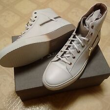 Bacco Bucci White Leather High Top Sneakers. Made in Italy SIze 11 US