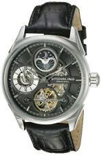 Stuhrling 657.02 657 02 Delphi Automatic Dual Time AM PM Indicator Mens Watch