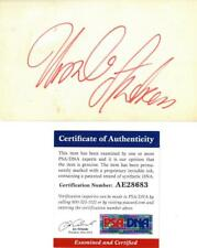 Ursula Andress Signed Autographed 3x5 Cream Index Card w/Photo PSA/DNA #AE28683