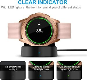 For Samsung Galaxy Watch Gear S2/S3 Wireless Charger Charging Dock 42mm/46mm UK
