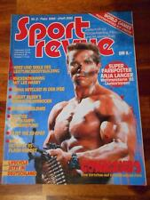 SPORT REVUE bodybuilding muscle magazine ARNOLD SCHWARZENEGGER Commando 2-86