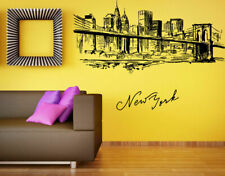 Wall Vinyl Sticker Decals Mural Room Design Art New York Brooklyn Bridge bo1311