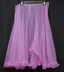 Vtg Dance Costume Skirt Long Sheer Sweep Gypsy Cancan Layering Festival Fairy L
