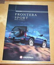 VAUXHALL FRONTERA SPORT SALES BROCHURE. 1996 MODELS. V10308 EURO 96 ENGLAND