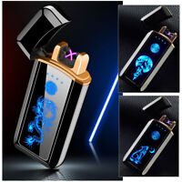 Electric Plasma Cigarette Lighter Usb Charging Windproof Dual Arc Touch Control
