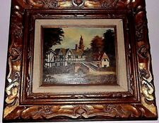 Antique Framed  Oil on Canvas  Painting, signed N.Spencer.
