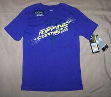 NEW Boys Under Armour Heat Gear Ripping Corners Lacrosse Shirt Sz S Small Purple