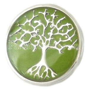 Green Tree of Life 20mm Snap Charm Interchangeable For Ginger Snaps Jewelry