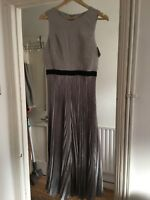 BNWT Coast Size 14 Grey Silver Pleated Culottes Jumpsuit