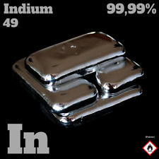 50 g Indium metal ingot - 99,99% Indium Metall - gegossener Barren - In 49