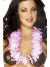Pink & White Hawaiian Lei - Cheap Garland - From UK Ladies Fancy Dress