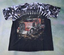 Skull Shirtz Men's Graphic T-Shirt Double Sided Semi Truck Skull Size L.