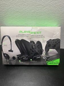 Gaming Accessory Kit for Xbox One Headset Dual Dock 2 Battery Pack Cable 8 Piece