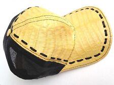 ALLIGATOR SKINE HAT GOLD BUTER FISHNET BACK ADJUSTABLE SNAPBACK,WT  GIVALDI=512