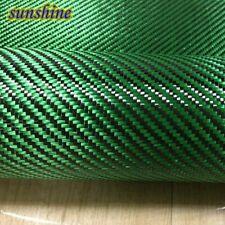 Green Carbon Aramid Fiber Hybrid Fabric Cloth 3K Carbon Fiber Green Aramid Fiber
