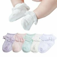 Baby-Girls Eyelet Frilly Lace Socks,Newborn/Infant/Toddler/Little Girls