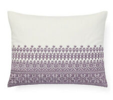 NWT Alessandra Collection Melisent Embroidered Breakfast Pillow Violet Cream 215