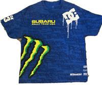 DC Shoes Subaru Monster Rally Team USA Ken Block Men's T-Shirt All Over Print XL
