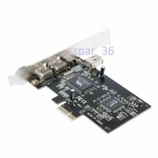 New PCI-e FIREWIRE 1394 A 400mbps 6 & 4 Pin PCI Express CARD AD