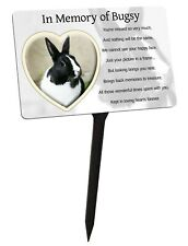 Pet Photo Personalised Memorial Plaque & Stake. Heart, dog, cat, rabbit, garden