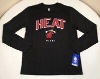 Miami Heat Shirt Boys Large NBA Black Long Sleeve