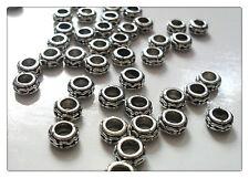 20 X Tibetano Plateado Perlas-Anillos - 6 Mm