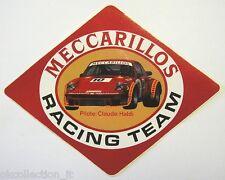 VECCHIO ADESIVO RALLY /Old Sticker MECCARILLOS TEAM CLAUDE HALDI (cm 20x15)