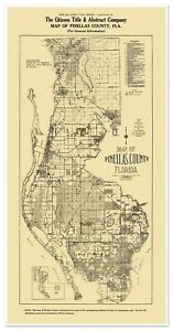 Pinellas County - Tampa Bay, St. Petersburg, Clearwater - Florida Map circa 1925